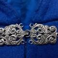 Short Bright Blue Wool Blend Cloak