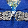 Medium Length Bright Blue Wool Blend Cloak