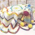Crochet Blanket & Toy Set