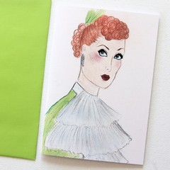 Blank Card, I Love Lucy, Thinking of You Card, Thank You Card, Birthday Card