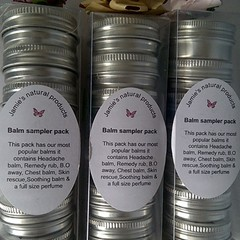Sample balm gift packs