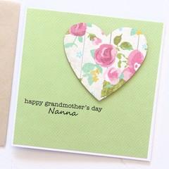 Happy Grandmother's Day Card, Personalised Custom Made Handmade card, Grandma