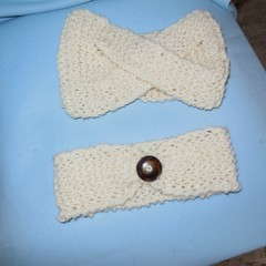 Head band and Ear warmer/Wool/Adult