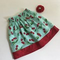 Cherries girls skirt