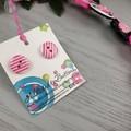Ellie the Elephant - Button Necklace - Jewellery - Earrings