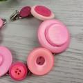 Bracelet - Pink - Mixed Button Bracelet
