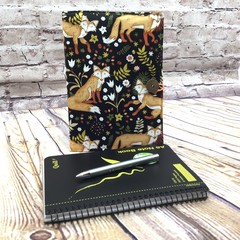 Foxes Fabric Notebook Cover