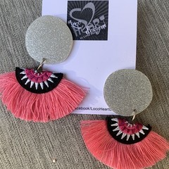 Acrylic & Fan Earrings