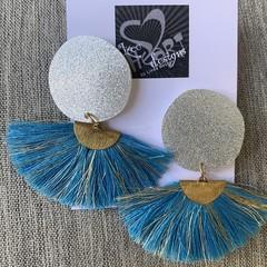 Acrylic & Fan Earrings