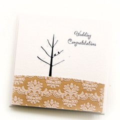 Wedding card | Vintage | Handmade | Birds and Tree