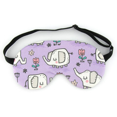 ADJUSTABLE Kids / Adults Purple Elephant Sleep Eye Mask, Sleeping Mask