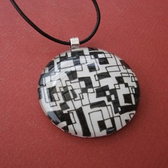 Millicent - painted pendant