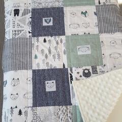 Pram quilt, pram blanket, baby blanket, baby quilt, practical baby gift