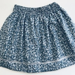 Beautiful blue and white girls skirt