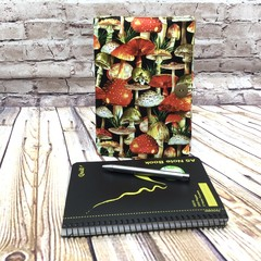 Mushrroms Fabric Notebook Cover