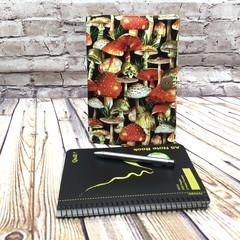 Mushrooms Fabric Notebook Cover
