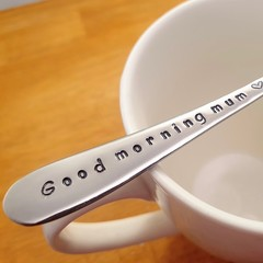 Good Morning Mum, Mother`s Day Gift, Mother`s Spoon, Breakfast,cutlery