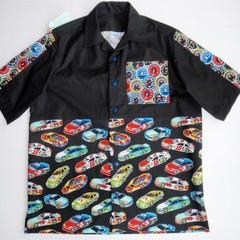 Men's short sleeved shirt - Racing Cars on black