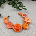 Bracelet - Orange - Mixed Button Bracelet