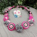 Ellie the Elephant - Button Necklace - Jewellery - Earrings