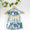 Vintage Cotton Floral Toddler Dress Size 2