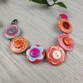 Bracelet - Flower Power - Mixed Button Bracelet