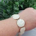 Bracelet - White - Mixed Button Bracelet