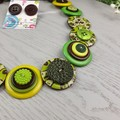 Rainforest Magic - Button Necklace - Button Earrings