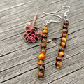 Tiger's Eye Column Earrings