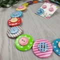 Spring Fling - Spots Vs Stripes - Button Necklace - Button Earrings - Jewellery