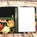 Tulips Fabric Notebook Cover