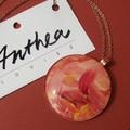 Lena - painted pendant