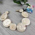 Bracelet - White - Mixed Button Bracelet
