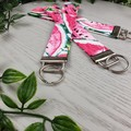 Watermelon - Key Fob - Button Fabric - Wristlet - Bag Tag