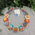 Sleepy Cat - Warm Kitty - Soft Kitty - Button Necklace - Button Earrings