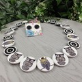 Button Necklace - Having a Hoot Owl - Button Earrings - Whimsy