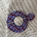 Burgundy and Blue Scarf/Hat Pin