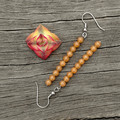 Peach Stone Column Earrings