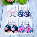 Statement teardrop earrings, Custom made, choose your own print