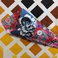 Handy Scissor Holder-Blue and red floral print
