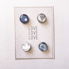 Glass magnets - To love