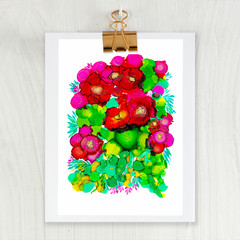 ' Autumn Blooms' A4 or A3 Reproduction Giclee Art Print