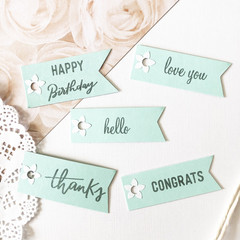 Decorative gift tags - Mint