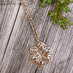 Filigree Gold Flower Necklace