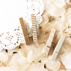 Washi tape pegs - Rose gold and silver