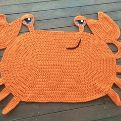 Cranky the Crab Floor Rug