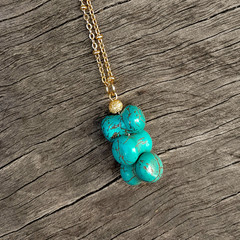 Funky Turquoise Stone Necklace