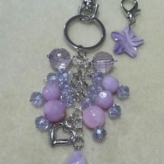 """""""Purple"""" Bag Dangle/Charm & Zipper Pull Set"""