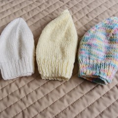 *Special * 3 beanies: (1-3yrs): Washable, girl, winter, soft