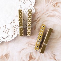 Washi tape pegs - Gold